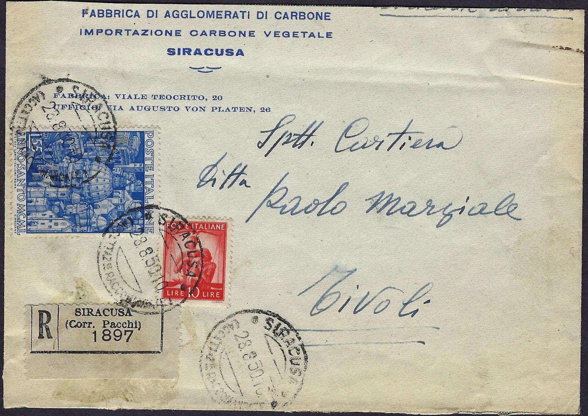 1950 Storia Postale