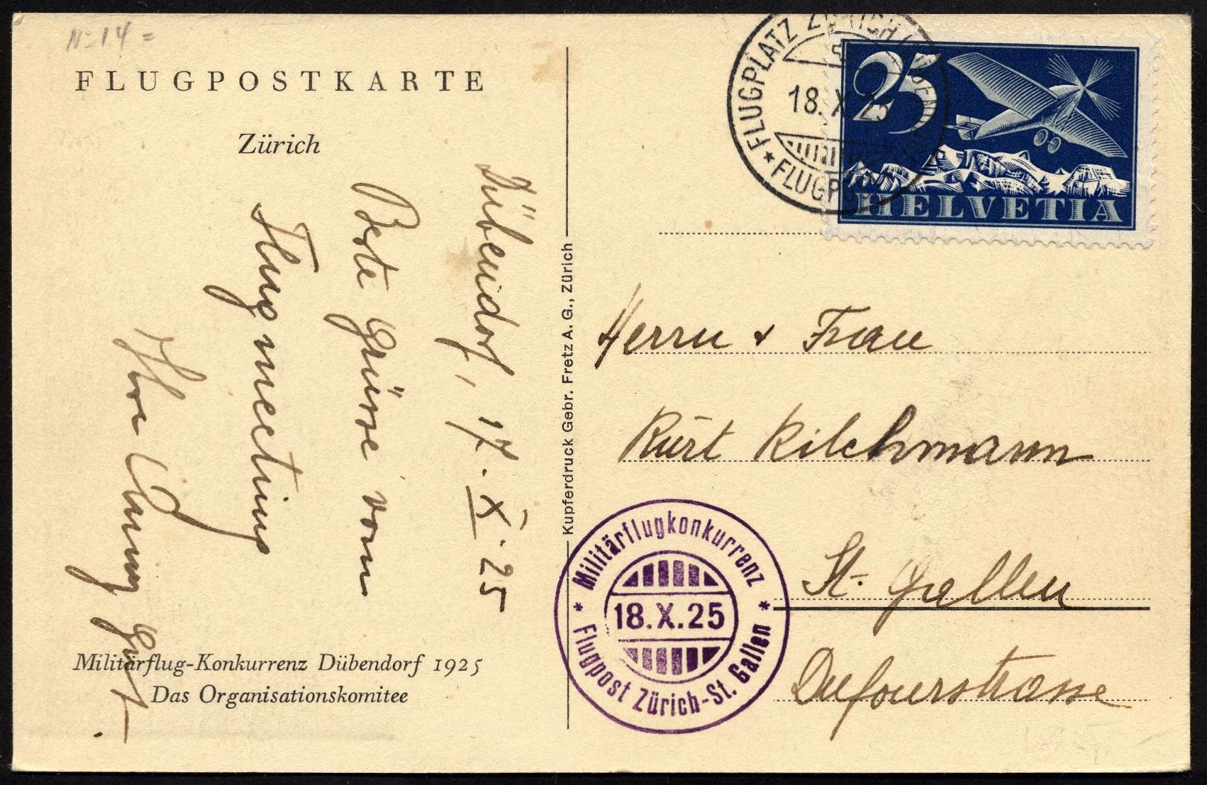 1925 Dubenndorf-St. Gallo