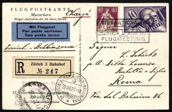 1927 Zurigo Bellinzona