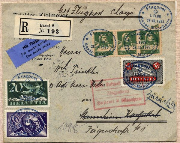 1925 Volo Basilea-Mannheim