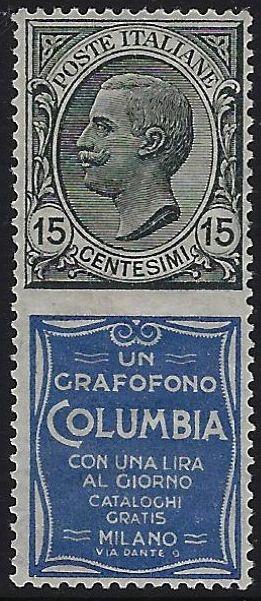 Pubblicitario cent. 15 Columbia