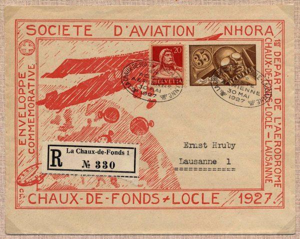 1927 Raccomandata via aerea