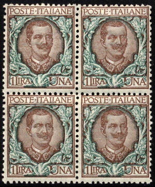 1901 Lire 1 Floreale