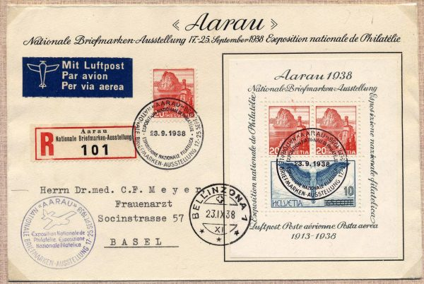 1938 - Aarau - viaggiata