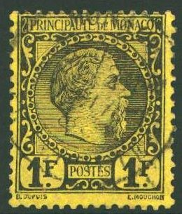 1885 Monaco Carlo III 1 Franco