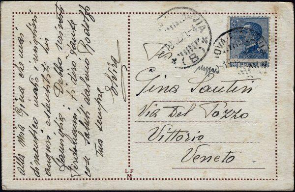 1921 Storia Postale - Varietà certificato Caffaz