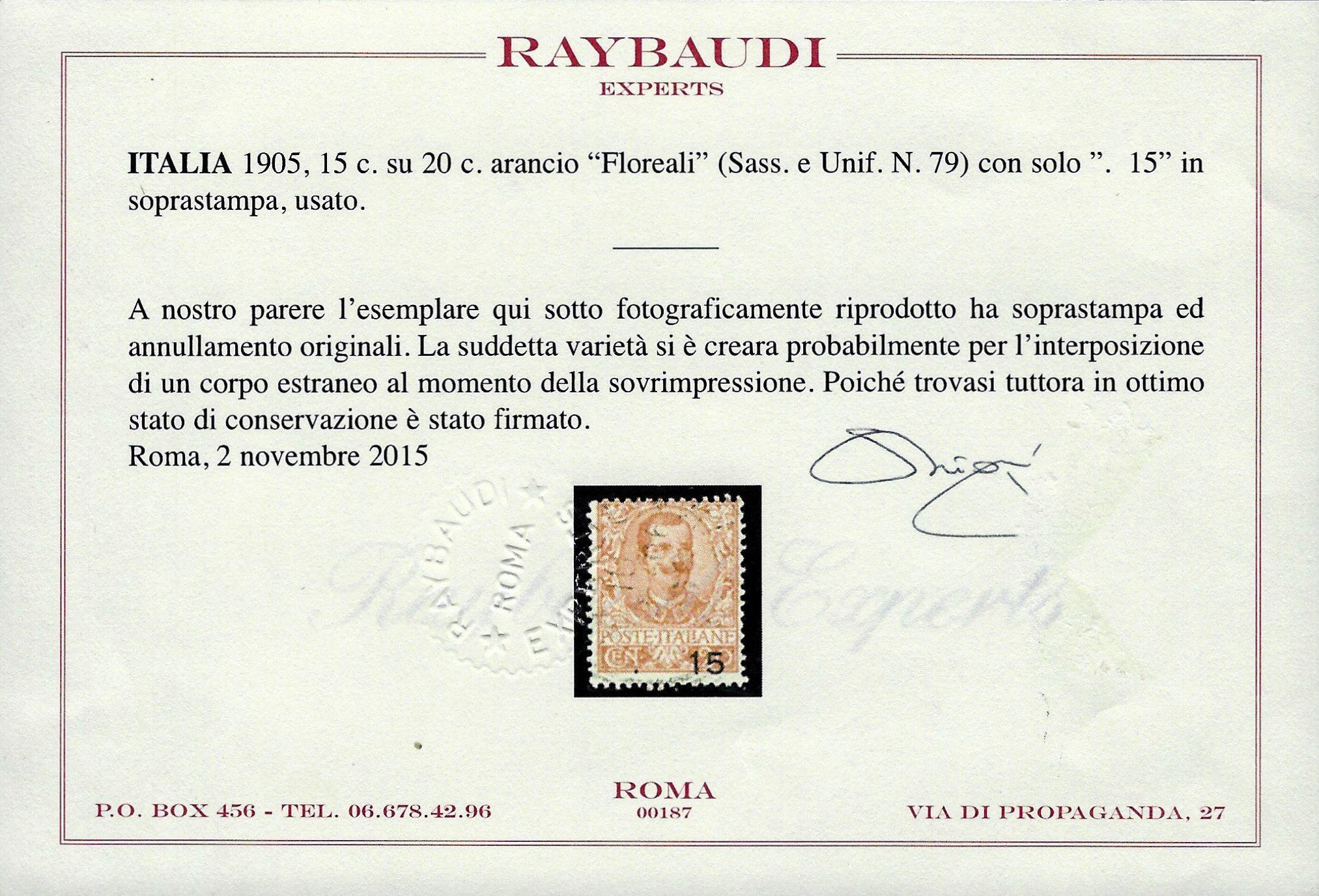 1905 Varietà certificata Raybaudi