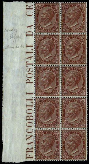 30 cent. bruno - certificato Fiecchi