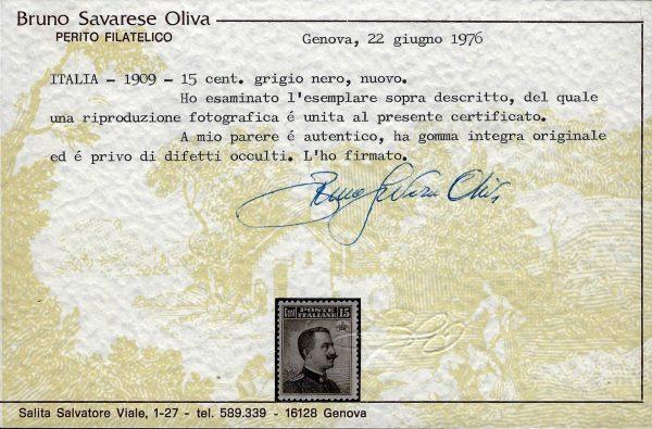 1909 Michetti cent.15 MNH Oliva