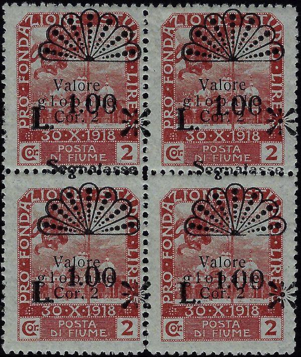 1921 Fiume - Varietà Certificato Coll