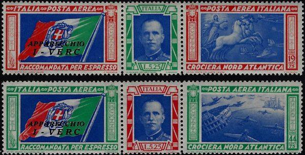 1933 Trittiici I-VERC - MNH
