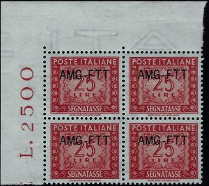 1954 TRIESTE A - Segnatasse certificato Diena