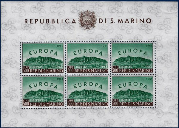 Foglietto Europa 1961