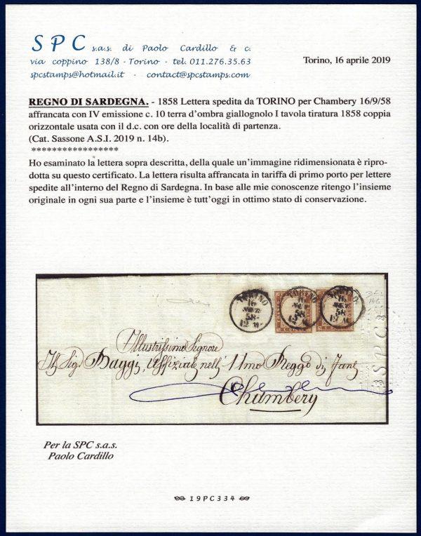 1858 - Sardegna - 4^ Emissione