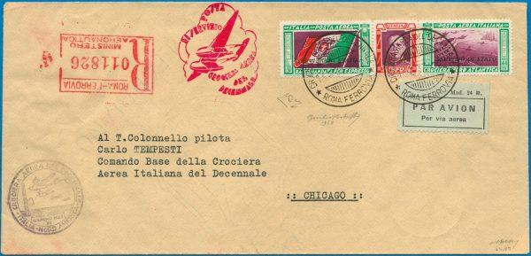 """1933 - Aerogramma """"Servizio di Stato"""" - Bolaffi"""