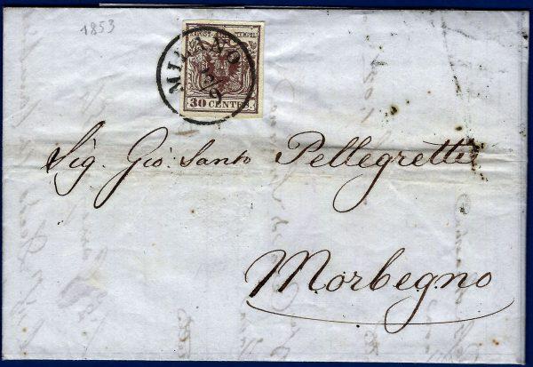 1853 Lettera Lombardo Veneto