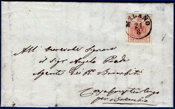 1856 - Regno Lombardo Veneto - Lettera