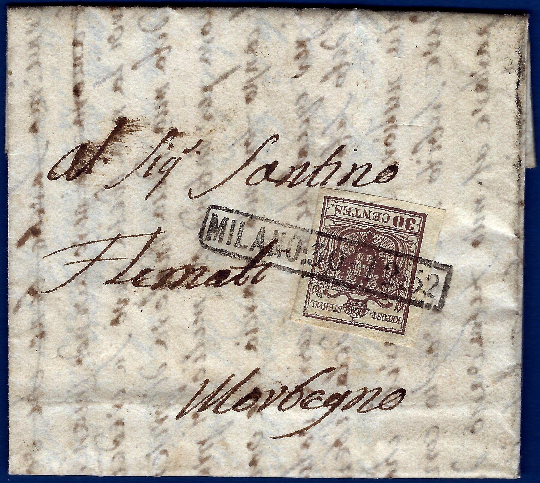1852 - Lombardo Veneto - Lettera