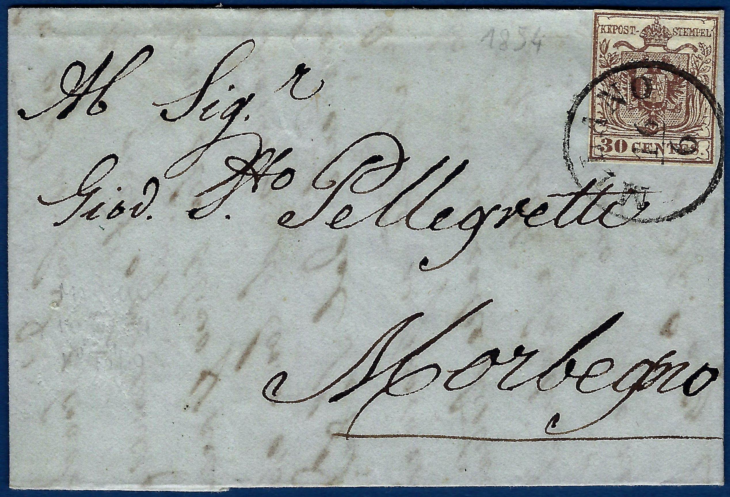 1854 - Lettera Lombardo Veneto