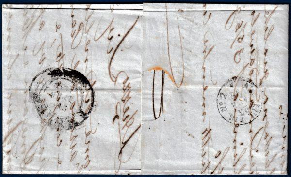 1862 - Lettera resa franca con 10 cent. (Sassone n.14Co)