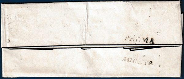 1852 - Ducato di Parma - Lettera affrancata