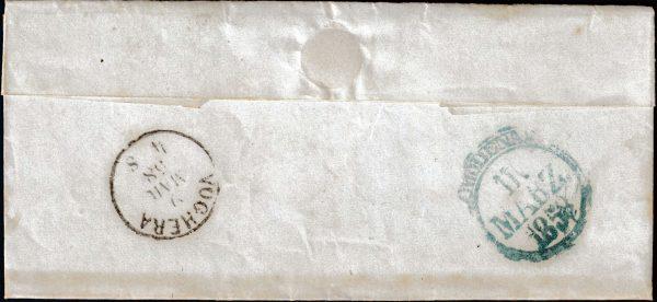 1858 - Sardegna - lettera affrancata - Ballabio