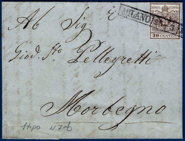 1852 - Lettera Lombardo Veneto
