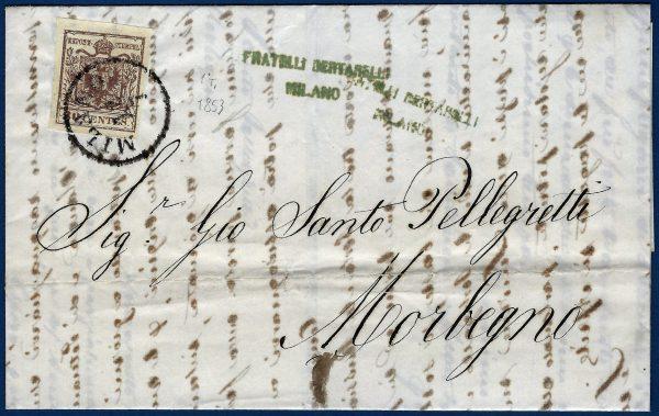 1853 - Lettera Lombardo Veneto