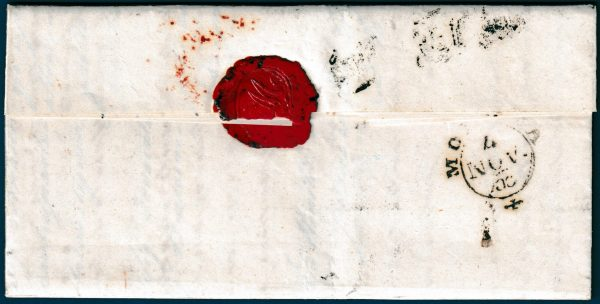 1853 - Toscana - Lettera resa franca con 4 crazie