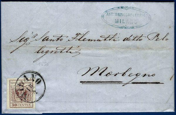 1856 - Lettera Regno Lombardo Veneto