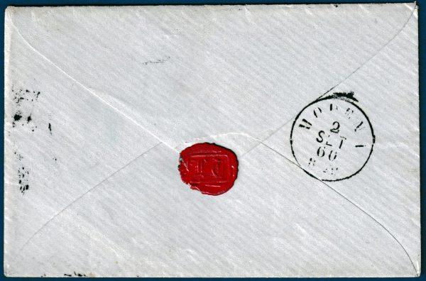 1860 - Toscana - Governo provvisorio - Lettera affrancata