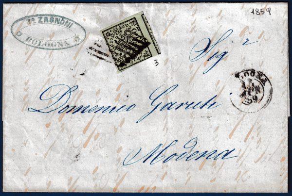 1859 - Lettera Pontificio