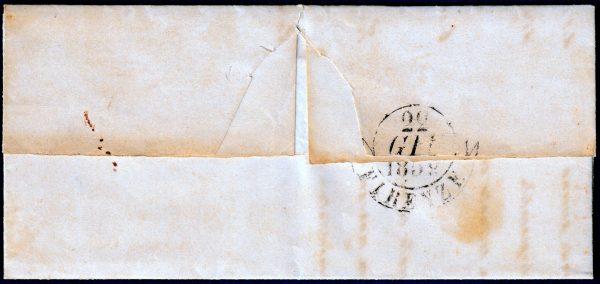 1852 - Modena - Lettera con s5 cent. n.4