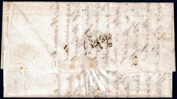 1853 - Lettera da Parma - Affrancatura multipla bicolore