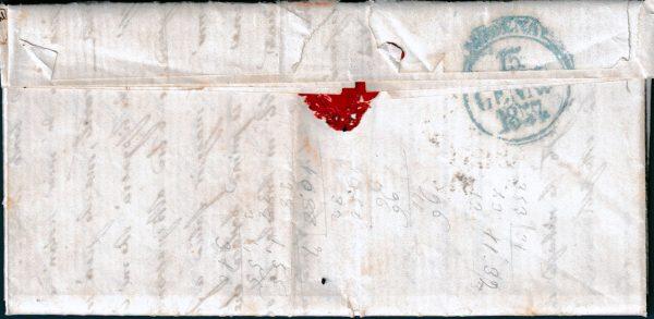 1857 - Lettera da Piacenza con coppia cent.15 (n.3)