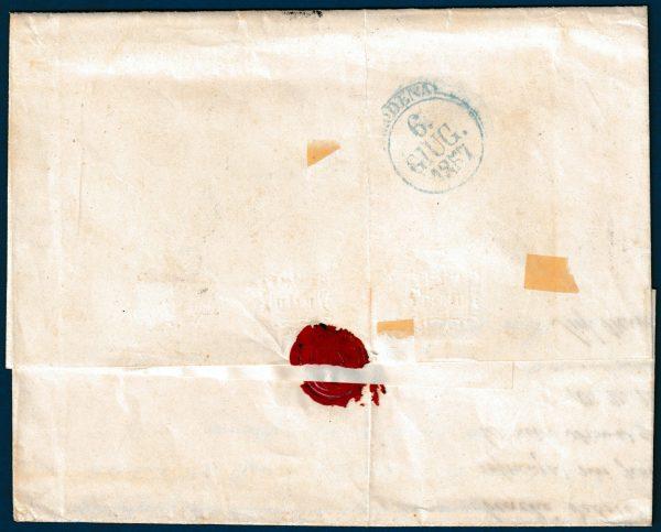 1857 - Stato Pontificio - Lettera