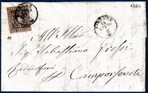1860 - Toscana Governo Provvisorio - lettera 10 cent.