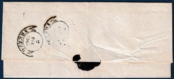 Toscana - 1860 - Lettera resa franca con cent.10 (n.19)