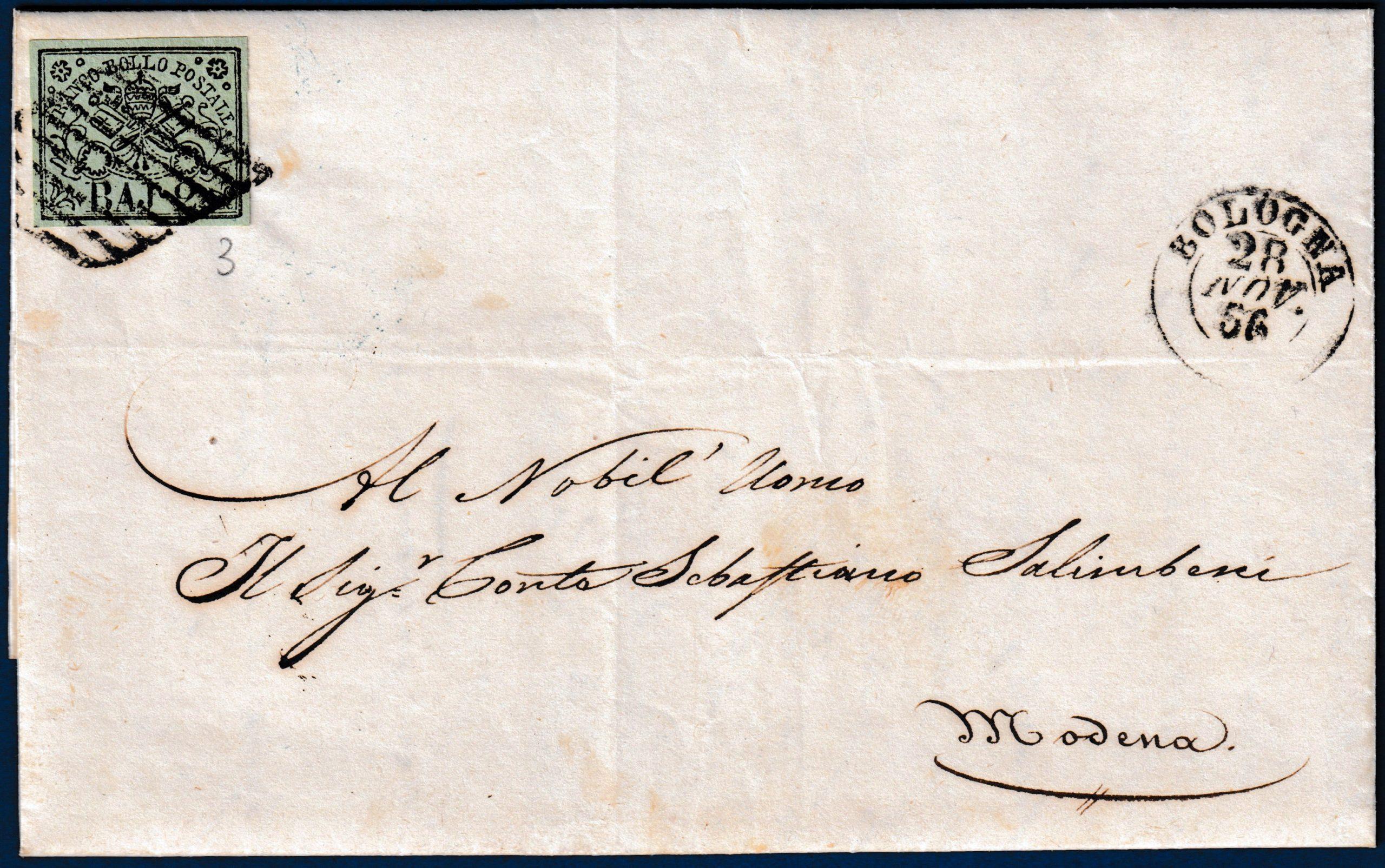 1856 - Stato Pontificio - Lettera