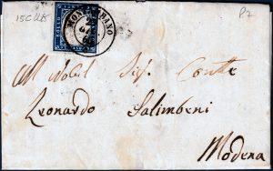 1860 - Lettera da Monzambano con cent. 20 n.15C
