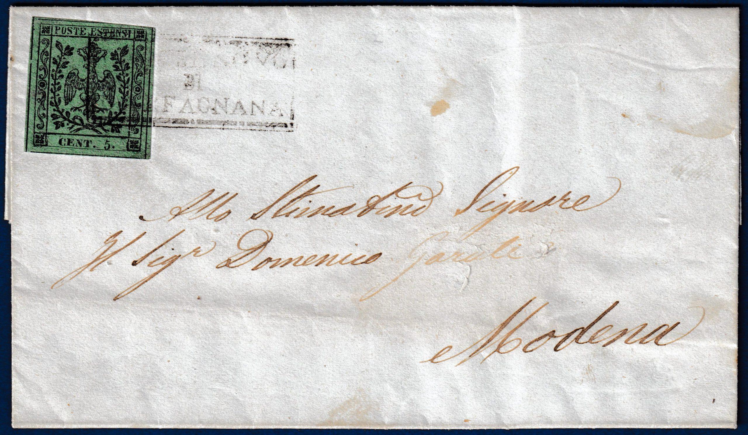 1853 - Lettera da Castelnuovo di Garfagnana