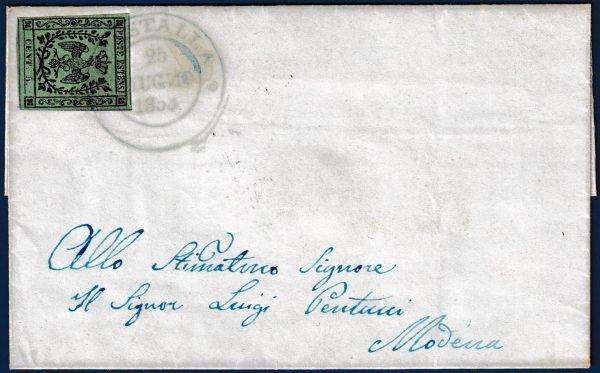 1853 - Lettera da Guastalla