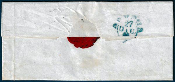 1855 - Lettera Stato Pontificio