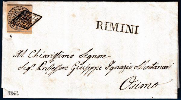 1852 - Lettera Stato Pontificio