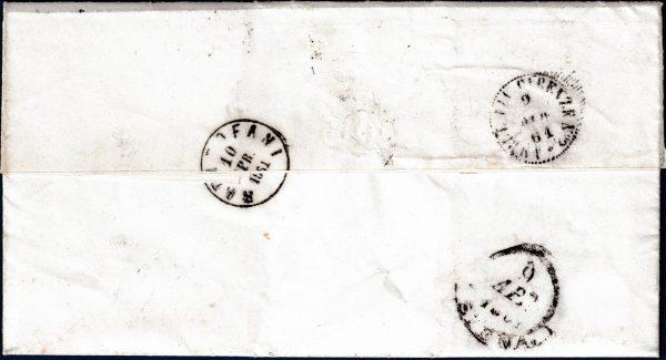 1861 - Lettera resa franca con cent.10 bruno (n.14Cp)