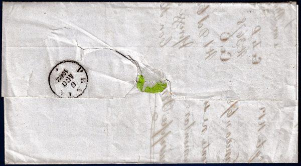 1862 - Lettera per Prato con cent.10 (n.14Co)