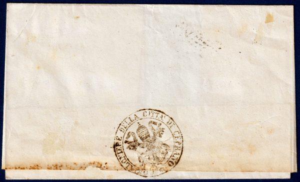 1868 - Pontificio - Lettera - Diena