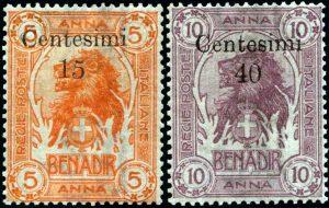 1905 - Somalia - Leoni - oro Raybaudi