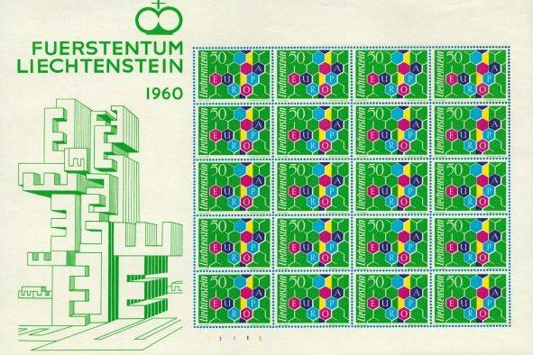 1960 BF Liechtenstein nuovo MNH