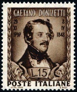 1948 Lire 15 Donizetti MNH